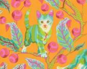 1/2 yard TABBY ROAD by Tula Pink for Free Spirit Fabrics Disco Kitty-Marmalade skies