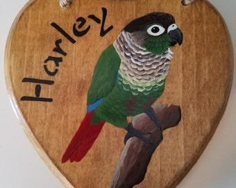 Customized parrot plaque