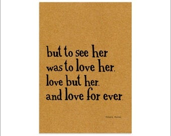 But to see her was to love her - Robert Burns Ae Fond Kiss - Scottish Vintage A4 Print