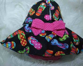 Female Dog Diapers / dog pantie / britches / Waterproof / Black Flip Flop print