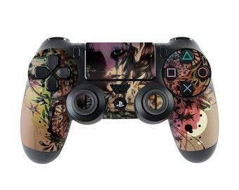 Sony PS4 Controller Skin Kit - Doom and Bloom by Mat Miller - DecalGirl Decal Sticker
