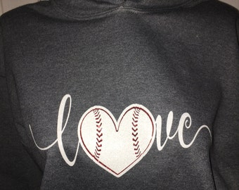 Baseball Shirt - Women's Love Baseball Hoodie - Baseball Mom - Baseball Mom TShirt