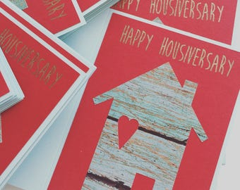 Heart of Home Happy Housiversary, Realtor Cards, Boxed set of 12, Realtor House Cards