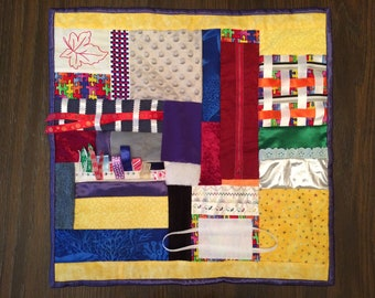 Fidget Quilt / Sensory Blanket - Puzzles - Fundraiser - Autism Support of West Shore
