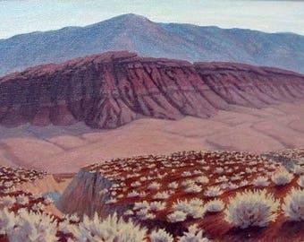 California 'Tecopa Highlands' - original landscape painting - impressionist - purple - southwest art - desert painting - framed
