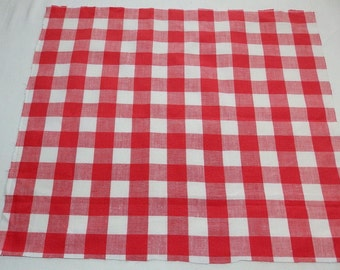 Christmas coloured French vintage check fabric