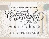 Calligraphy Workshop - January 6th in Portland, Oregon