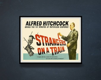 Reprint of the vintage Thriller movie poster - Stranger on the Train