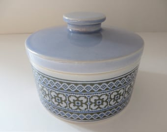 Hornsea Pottery butter dish, Tapestry pattern, Butter pot