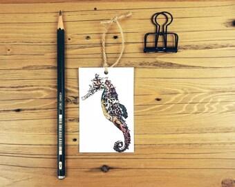 Seahorse Gift Tag