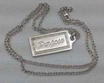 Sterling Purpose pendant and chain