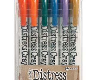In Stock! New! Ranger Tim Holtz Distress Crayons - Set # 9 - Water Reactive Pigments