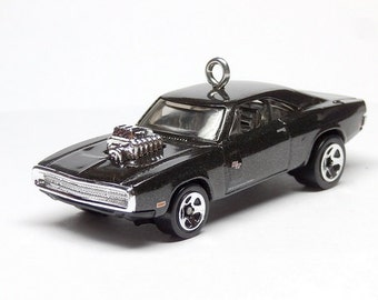 1970 Dodge Charger R/T Car Hot Wheels Ornament, Fast and Furious, Choose your Ornament Hook Style BettyGiftStore