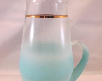 Vintage Blendo Blue Beverage Pitcher