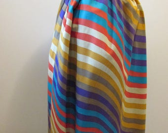 Vintage Women's Skirt - Multi-Color Stripe