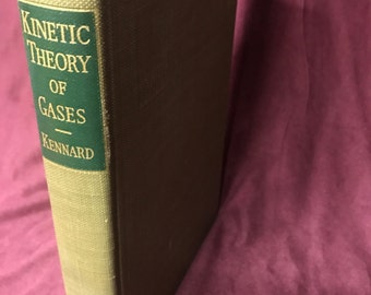 Vintage Book - Kinetic Theory of Gases w/ Introduction to Statistitcal Mathematics - 1938