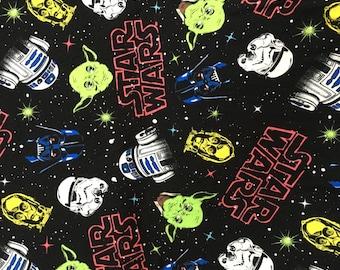 Pretty star war Yoda stormtroopers pattern soft  Cotton lycra50*165 cm cotton knit 1/2 yard
