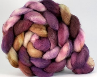 SW Bluefaced Leicester combed top 'Plum Banoffee'