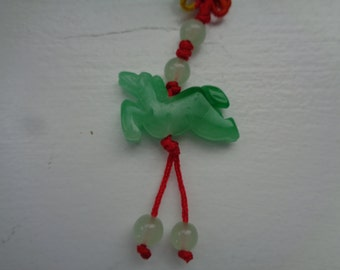 Chinese JADE Pendant with silk embroidery
