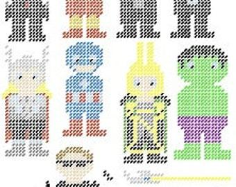 Avengers Magnet Plastic Canvas Set Pattern