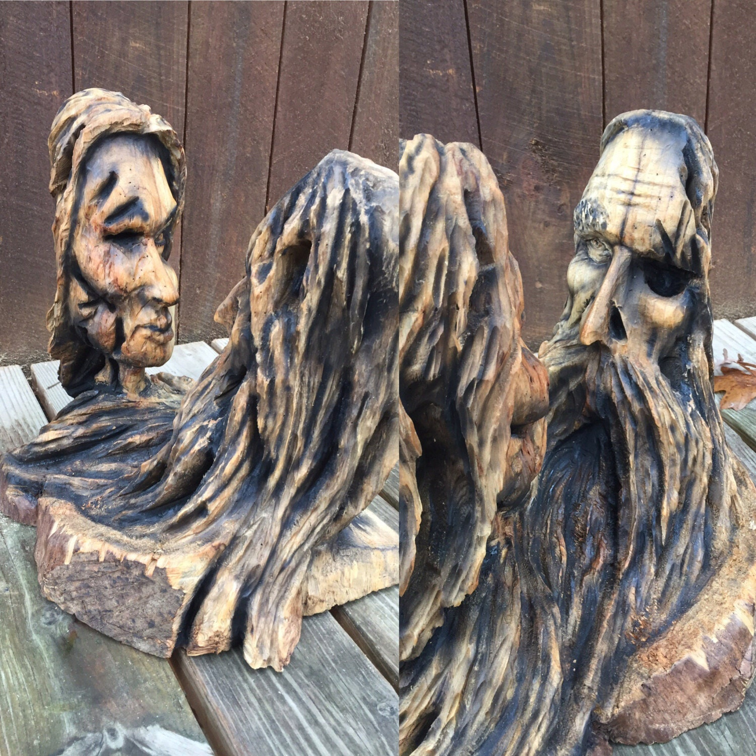 New year sale hand carved wood sculpture anniversary