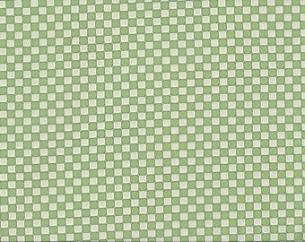 Green Grass Check, 100% Cotton Fabric Sold by Half Yard (24359)