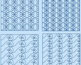"""Stippling Set 5 Leaves Machine Embroidery Designs 4"""", 5"""", 5x7"""", 6"""", 7"""", 8"""" Four Designs NEW"""