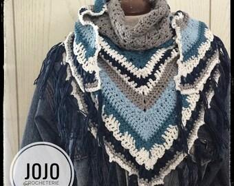 Scarf, scarf cotton inspiration mandala