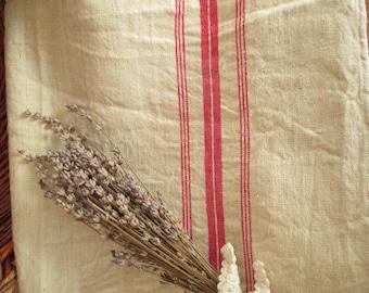 226. Flax linen towel, vintage organic linen towel, homespun pure flax linen towel, handwoven guest towel from 1940s (unused)