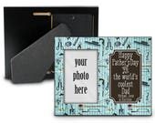 Fathers Day Photo Frame - Photograph - Tools - Vintage Look - Cool Dad - Gift for him - gift for dads - Personalized - Custom - Family Name
