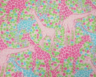 "18"" x 18"" Lilly Pulitzer Cotton Fabric Princess Of the Jungle"