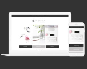 Responsive Wordpress Theme Romantica - SEO-ready Theme - 6 Layout Options - Wordpress Blog Theme