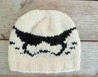 Stormtrooper men  hat- hat for men- beanie hats -white hat- soldier hat-Starwars hat-gift for him
