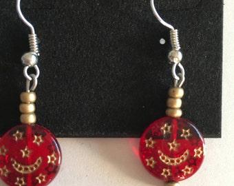 Lovely Red dangle earrings