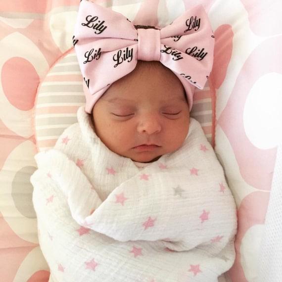 Personalized Baby Headband Newborn Baby Gift by ...