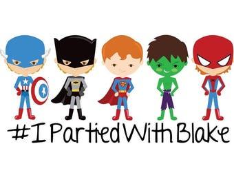 Custom Temporary Tattoos - Superhero Marvel Party Favors - Batman, Superman, Spiderman, Captain America, Hulk