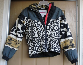 Vintage 1980s nylon ski jacket Ladies size 12 medium by Obermeyer 80s 90s  Women's