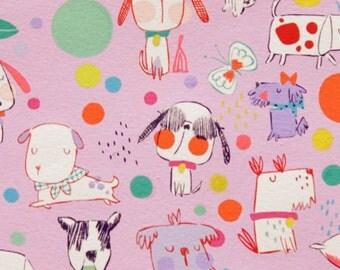 Alexander Henry - Puppy Polka Dot - #8485B - Berry