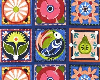 Michael Miller Fabrics - Spanish Tile - DC7123-BLUE-D