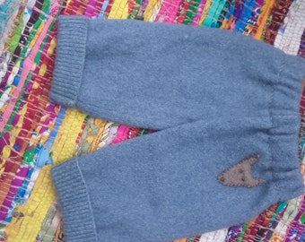 Upcycled wool baby pants