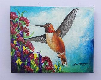 Rufous Hummingbird Original Painting