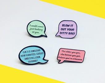 The Golden Girls, Speech Bubble, Quote, Enamel Pin Pack!