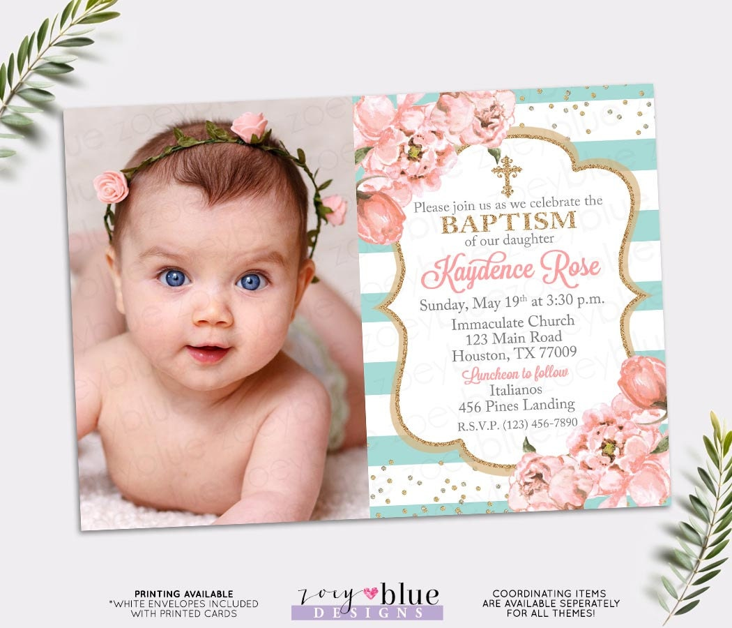 christening invitation
