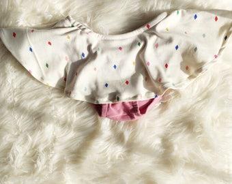 Jewels Skirted Bloomers - Rainbow Diamomd Baby Bloomers - Twirl Skirt - Girls Skirt