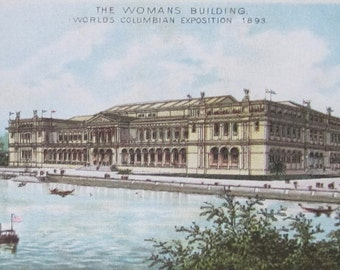 Antique 1893 Trade Card Jersey Coffee Souvenir of Columbian Exposition - The Womans Building - Free Shipping