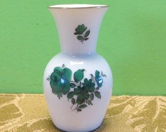 Augarten Wien Porcelain Floral Bud Vase - Free Shipping