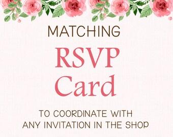 ADD-ON - Matching RSVP Card