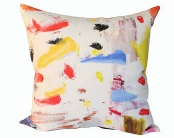 Arty designer pillow cover - Pierre Frey fabric - 1 SIDED OR 2 SIDED - Made to Order - Choose Your Size