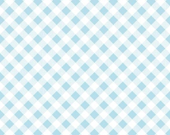 Sew Cherry 2 Gingham - C5808-Aqua by Lori Holt of A Bee in My Bonnet for Riley Blake Designs
