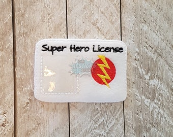 Super Hero License - Pretend Play - Heroine - Save the Day - Card - Imagination Time - Fun - Children - Child's Play - Kids